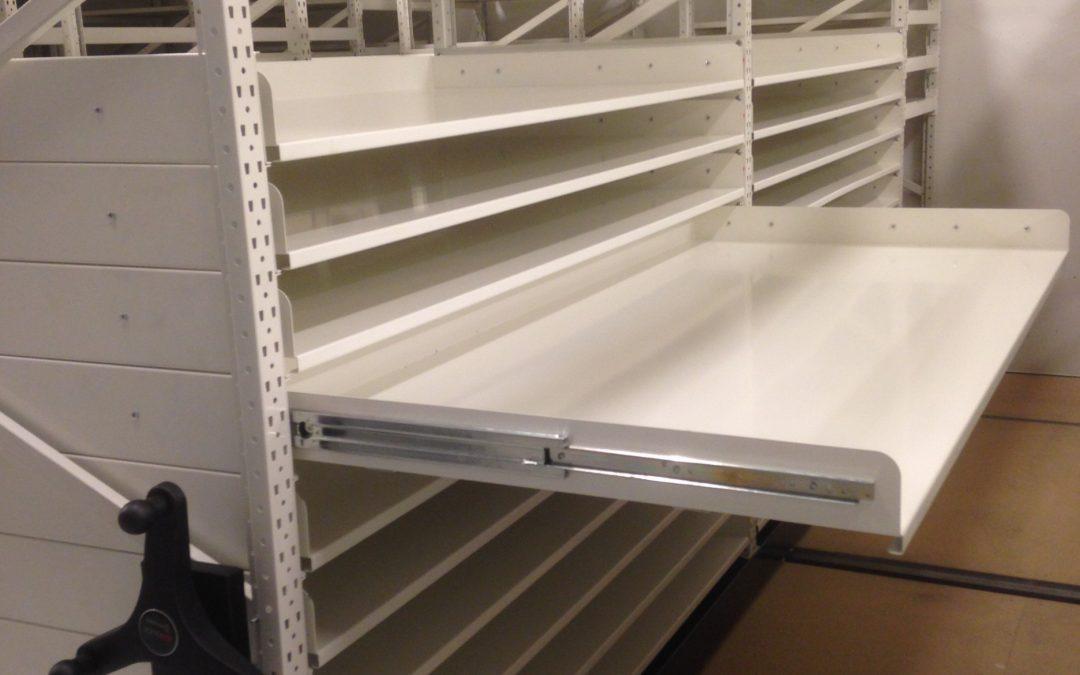 Longspan shelves with drawers